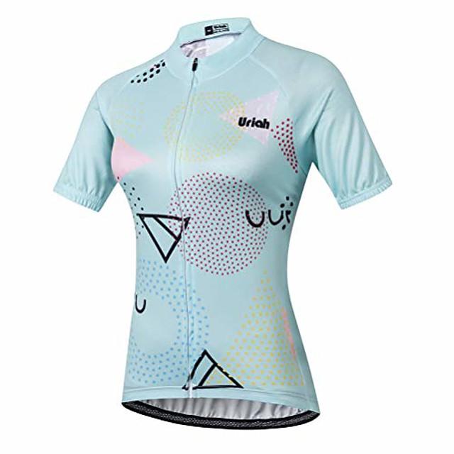 women's cycling jersey short sleeve geometric size l(cn)