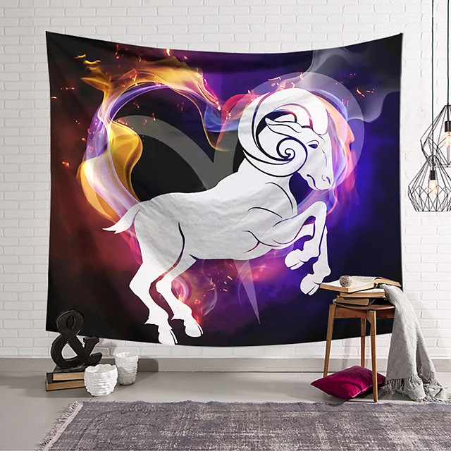 Wall Tapestry Art Decor Blanket Curtain Hanging Home Bedroom Living Room Colourful Polyester Horse