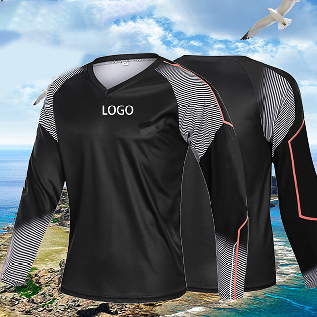 Men's Fishing Shirt Outdoor UPF50+ Quick Dry Lightweight Breathable Top Spring Summer Athleisure Fishing Camping & Hiking Black / Long Sleeve / Stretchy