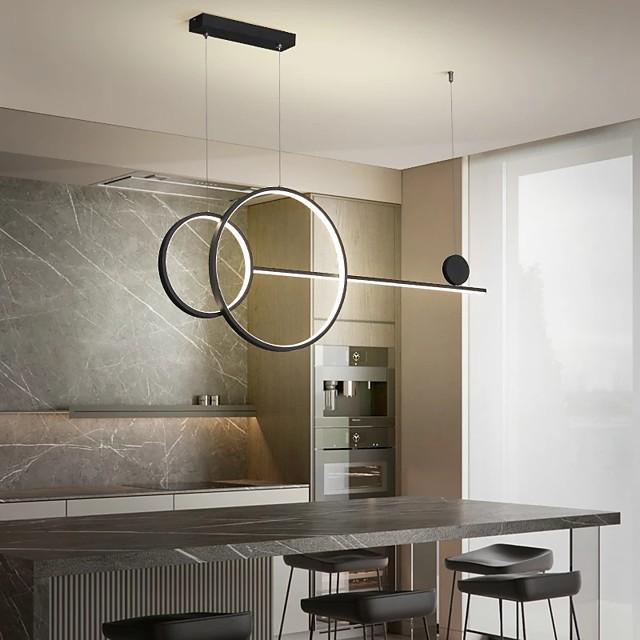 100 cm pendellampa svart vitt guld geometriska former aluminium konstnärlig stil geometrisk målade ytor konstnärliga moderna 220-240v