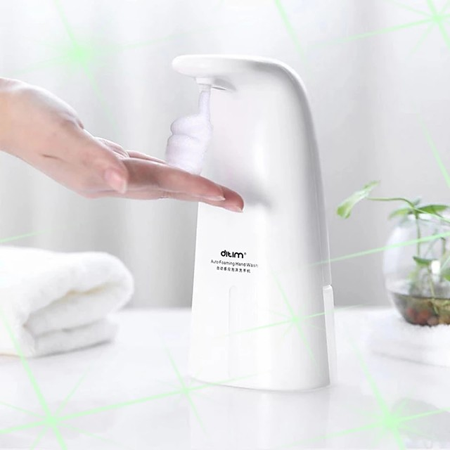 250ML Automatic Foam Soap Dispenser Wall Mounted Soap Dispenser Automatic Soap Dispenser Touchless ABS Hands Free