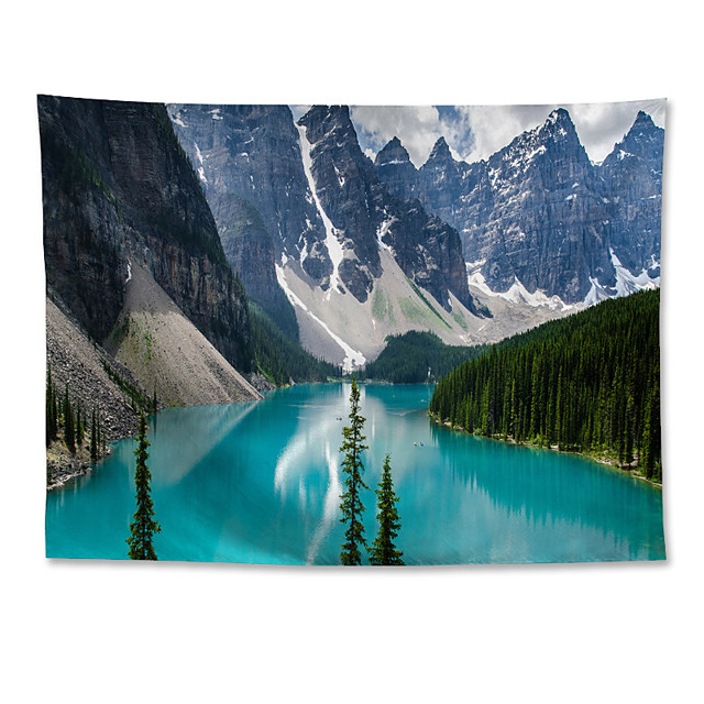 Wall Tapestry Art Decor Blanket Curtain Hanging Home Bedroom Living Room Grand Polyester Moraine Lake Snow Mountain