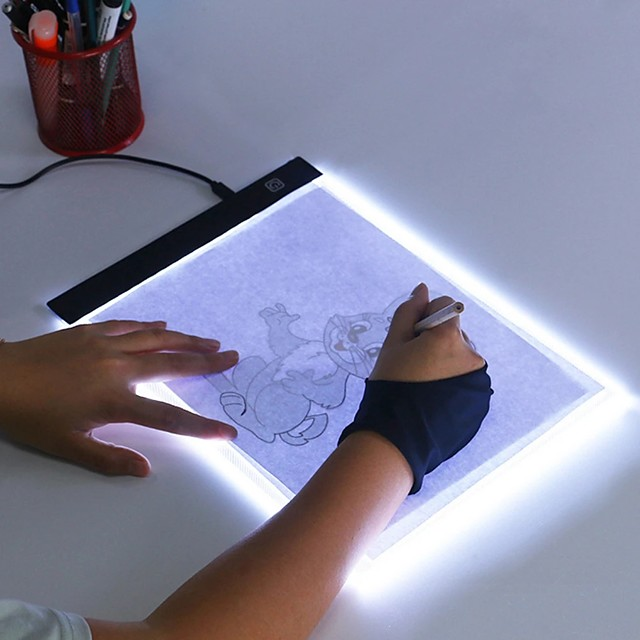 Ultra Thin A4 A5 LED Light Pad Artist Light Box Table Tracing Drawing Board Pad Diamond Painting Embroidery Tools