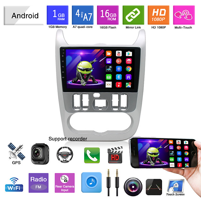 Car Dvd Mp5 Player Applicable To Models 09-13 For Renault Logan Android Navigation Android Gps All-in-one Machine