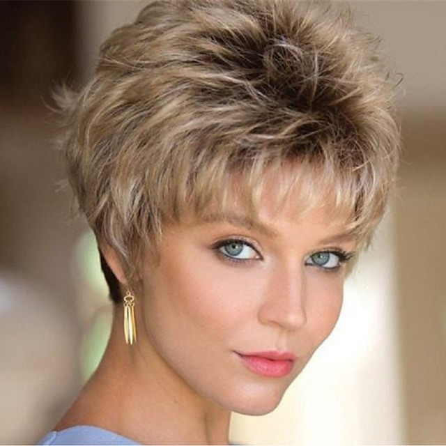 Synthetic Wig Curly Short Bob Wig Short Black / Gold Synthetic Hair Women's Party Fashion Comfy Blonde Black