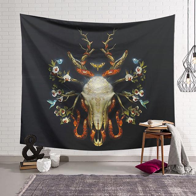 Wandtapijten art decor deken gordijn opknoping thuis slaapkamer woonkamer decoratie polyester schedel