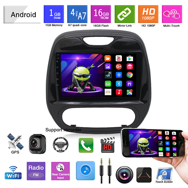 Car DVD 14 Renault Carbin Automatic Air Conditioner Android Navigation Android Mp5 Player GPS All-in-one Overseas Version