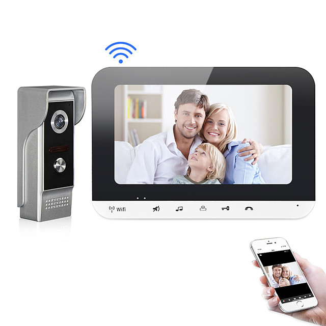 XINSILU XSL-V70MG-WIFI WIFI / Wired Photographed / Recording 7 inch Hands-free 800*480 Pixel One to One video doorphone