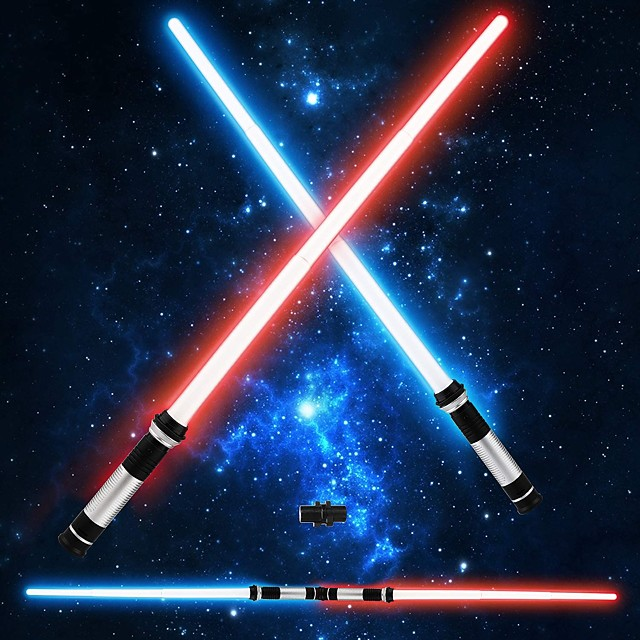 Warrior LED Lighting Lightsabers Light Up Toy Transformable Glow Kid's Adults for Birthday Gifts and Party Favors  2 pcs
