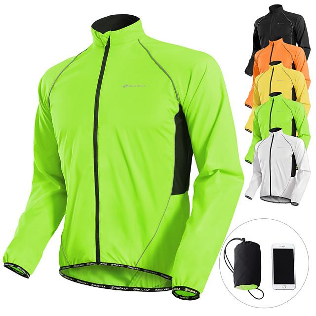 Nuckily Men's Cycling Jacket Jersey Skin Coat Winter Bike Jacket Windbreaker Raincoat Waterproof Windproof Breathable Anti-UV Portable  Long Sleeve Mountain MTB Road Cycling Clothing Sportswear