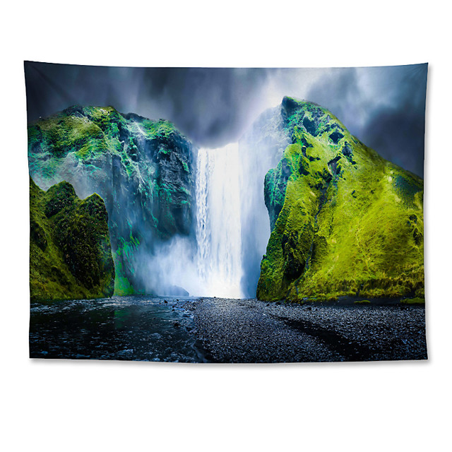 Wall Tapestry Art Decor Blanket Curtain Hanging Home Bedroom Living Room Grand Polyester Iceland Waterfall