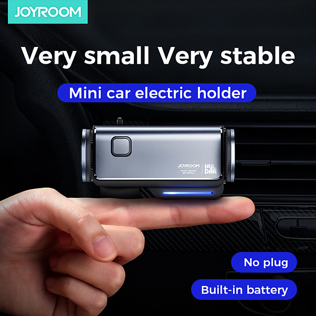 Joyroom JR-ZS218 Car Phone Holder Mini Smart Electric Locking Air Vent Clip Mobile Phone Mount Bracket Stand Auto Induction for iPhone