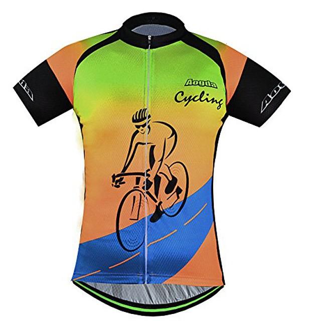 men bike shirts team biking short sleeves clothing bicycle jacket tights (blue jerseys, xxxx-large)