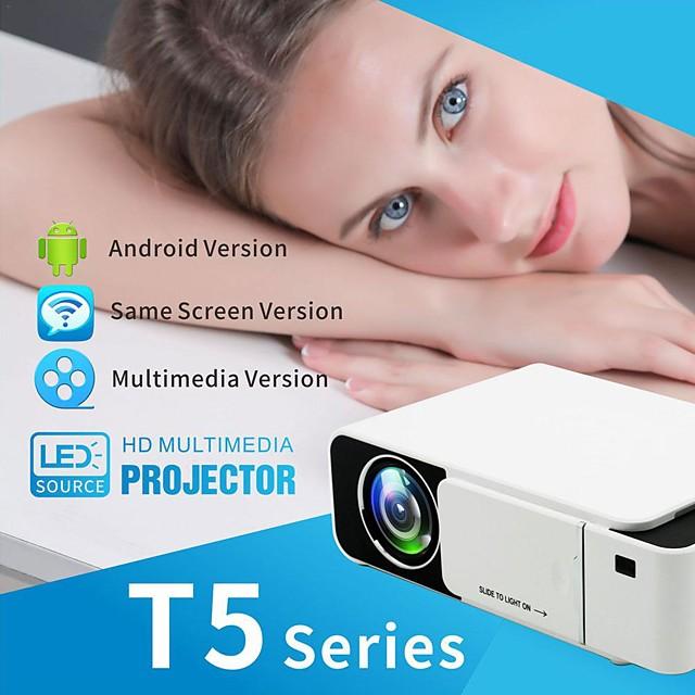 T5 LED Projector 2500 lumens Keystone USB HDMI VGA AV Beamer Home Theater Projector