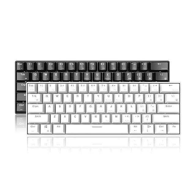 AJAZZ i610T Wireless Bluetooth USB Wired Dual Mode Mechanical Keyboard STANDARD FEATURES Luminous Mechanical Monochromatic Backlit 61 pcs Keys