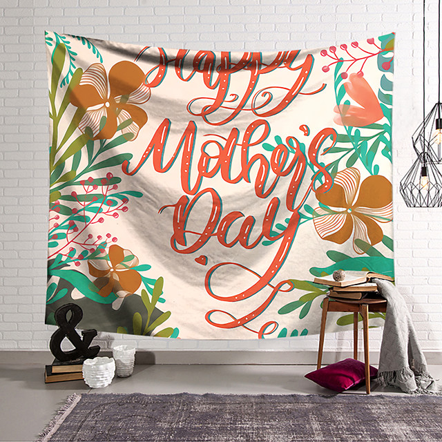 Wall Tapestry Art Decor Blanket Curtain Hanging Home Bedroom Living Room Decoration Polyester English Alphabet