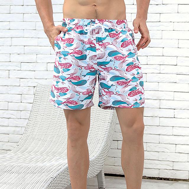 Men's Swim Shorts Swim Trunks Board Shorts Quick Dry Drawstring - Swimming Surfing Water Sports Summer