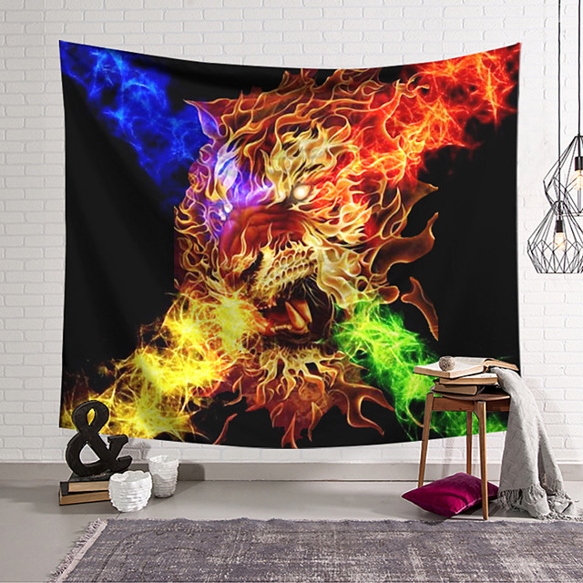Wall Tapestry Art Decor Blanket Curtain Hanging Home Bedroom Living Room Decoration and Abstract and Fantasy