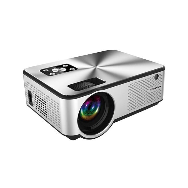 מקרן מקרן מיני 2800l מיני hd 1080p מלא נתמך מקרן וידאו נייד תואם מקל טלוויזיה, hdmi, vga, usb, tf, av, סאונד בר, משחקי וידאו