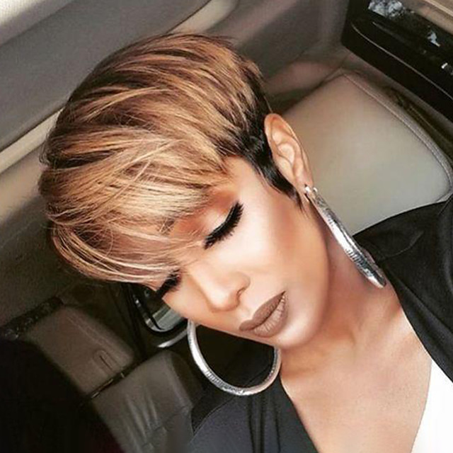Synthetic Wig Curly Short Bob Wig Short Black / Brown Synthetic Hair Women's Party Fashion Comfy Black Light Brown