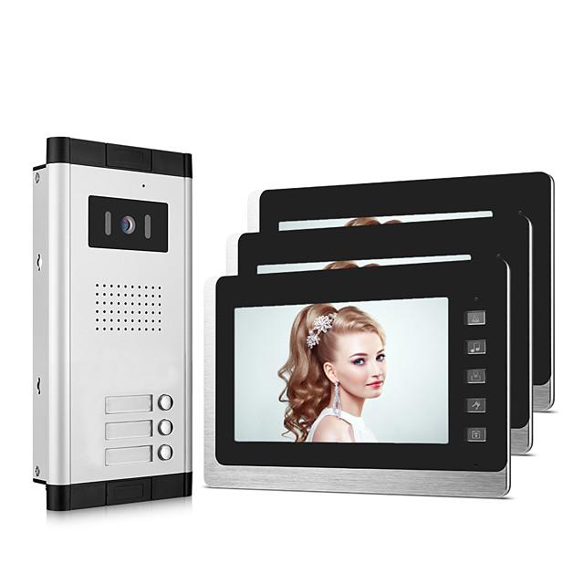 XINSILU XSL-V70L-B Wired 7 inch Hands-free 800*480 Pixel One to Three video doorphone