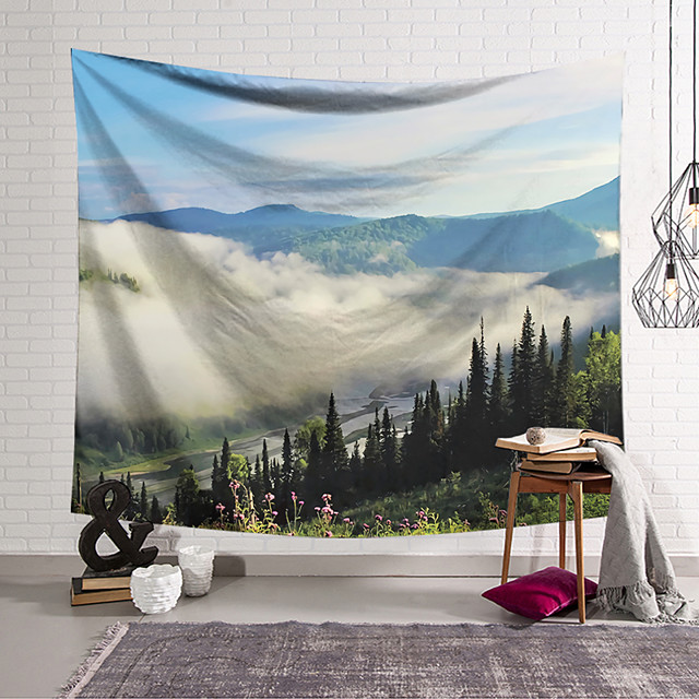 Wall Tapestry Art Decor Blanket Curtain Hanging Home Bedroom Living Room Decoration Polyester Cloud Landscape