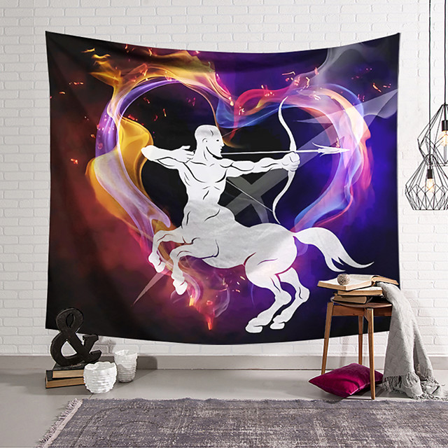 Wall Tapestry Art Decor Blanket Curtain Hanging Home Bedroom Living Room Colourful Polyester Centaur