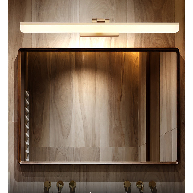 40cm Matte LED Modern Mirror Light Vanity Light Bathroom Lighting Black White Silver Bathroom Aluminum Wall Light IP20 110-120V 220-240V