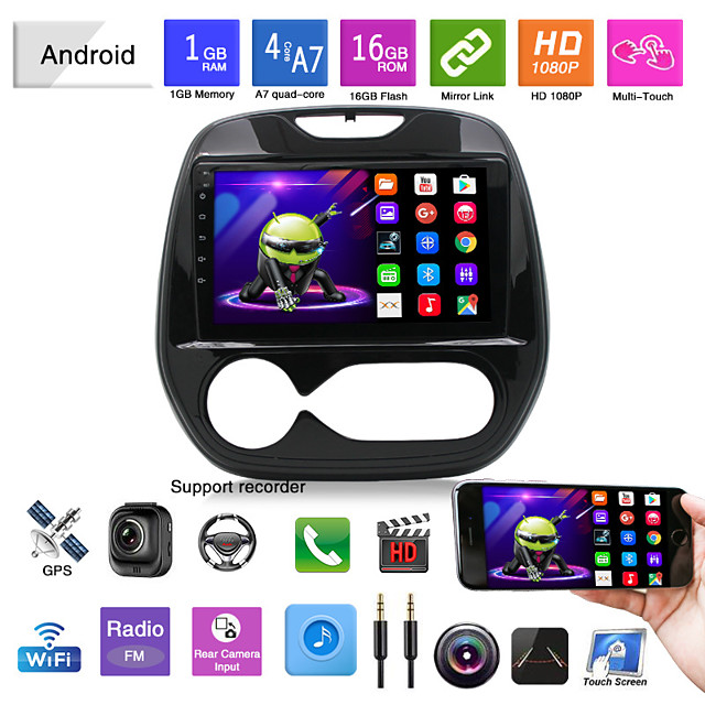Car DVD 14 Renault Carbin Manual Air Conditioner Android Navigation Android Mp5 Player GPS All-in-one Overseas Version
