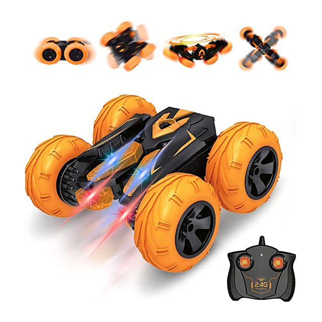 Remote Control Car for Kids, Tornado RC Stunt Car Toy, Double Sided 360° Rotate, Spin, Flip Stunt RC Cars High Speed Racing Car with Headlights, Stunt RC Crawler for Boys & Girls