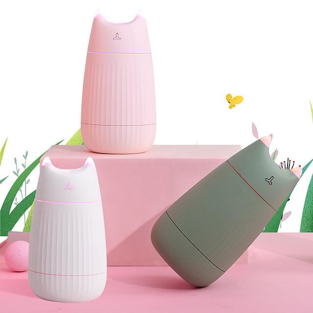 usb hava nemlendirici sevimli kedi masaüstü difüzör 200ml araba hava spreyi temizleyici mini taşınabilir difüzör ev için led ışıkları ile