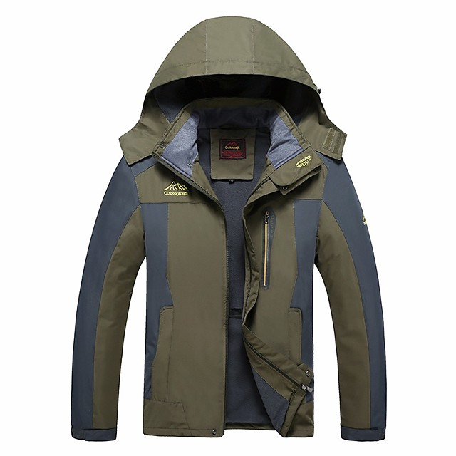 Men's Hiking Softshell Jacket Hiking Fleece Jacket Autumn / Fall Winter Spring Outdoor Patchwork Thermal Warm Quick Dry Lightweight Breathable Winter Jacket Top Hunting Fishing Climbing Black Red