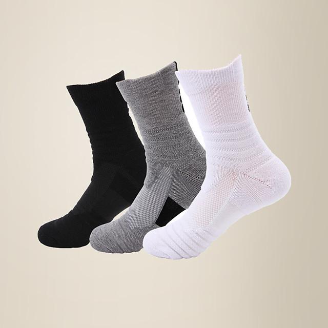 Litb basic calcetines de baloncesto transpirables cómodos para hombres calcetines deportivos de nailon de felpa calcetín de pantorrilla talla única eu 38-44 para hombre