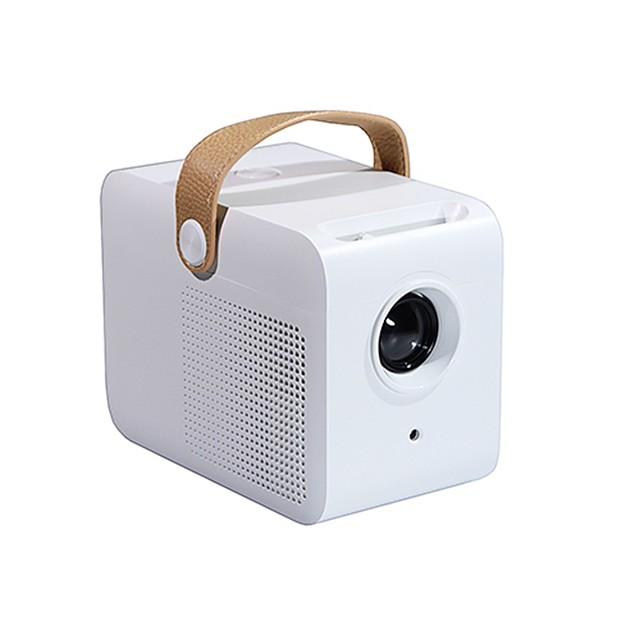 c1 mini bærbar projektor, lille pico størrelse og fuldt lukket til understøttelse af udendørs film 1080p video, børnegave, 50.000 timers levetid og kompatibel med tv-stick, ps4, hdmi, tf, av, usb