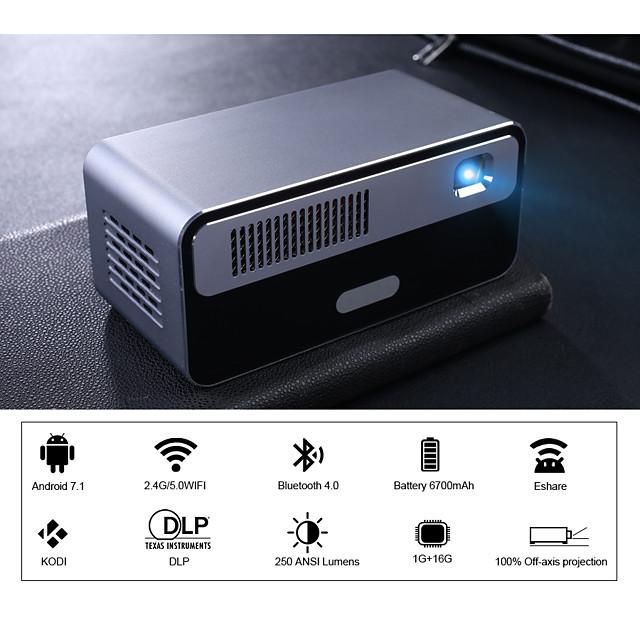 hdp300 250 ansi mini led hordozható dlp projektor intelligens projektor wifi akkumulátor hd android 1080p bluetooth pocket pico kézi fénysugár