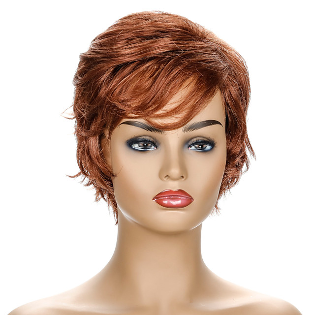 Synthetic Wig Curly Short Bob Wig Short Brown / Burgundy Synthetic Hair Women's Party Fashion Comfy Brown