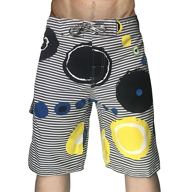Men's Swim Shorts Swim Trunks Board Shorts Quick Dry Drawstring - Swimming Surfing Water Sports Stripes Summer
