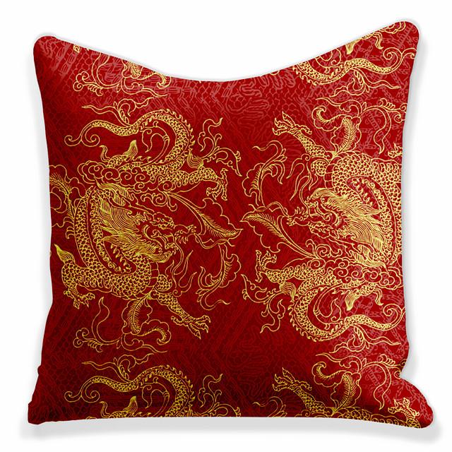 dubbelsida 1 st djur kuddfodral tryck 45x45cm linne för soffa sovrum