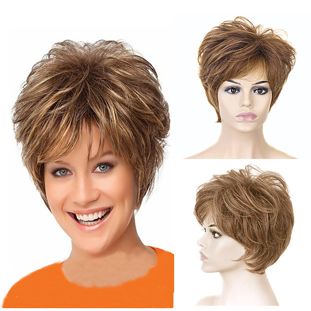 Synthetic Wig Curly Short Bob Wig Short Light golden Synthetic Hair Women's Party Fashion Comfy Blonde