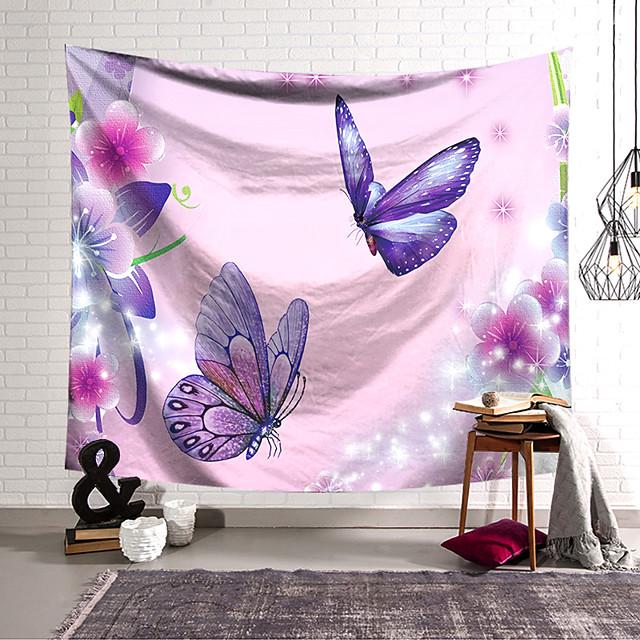 nástěnná tapiserie umělecká výzdoba deka záclona zavěšení domácí ložnice obývací pokoj dekorace polyesterový motýl