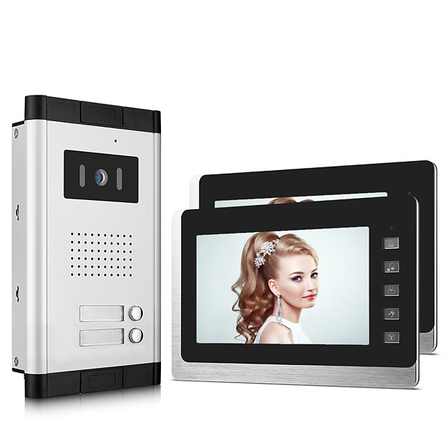 XINSILU XSL-V70L-B Wired 7 inch Hands-free 800*480 Pixel One to Two video doorphone