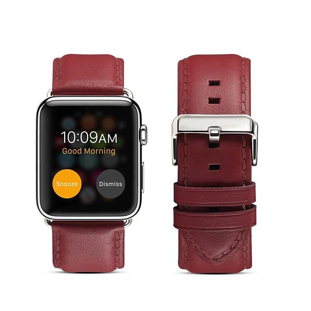 Умный ремешок для часов для Apple  iWatch 1 pcs Бизнес группа Натуральная кожа Замена Повязка на запястье для Apple Watch Series 6 / SE / 5/4 44 мм Apple Watch Series 6 / SE / 5/4 40 мм Apple Watch