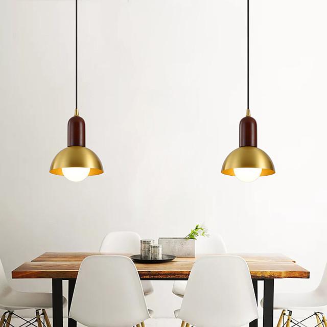 15 سم تصميم واحد LED قلادة ضوء دائرة تصميم الأشكال الهندسية قلادة ضوء النحاس نمط خمر معدن أنيق مطلي بالكهرباء نمط الشمال الحديث 110-120 فولت 220-240 فولت