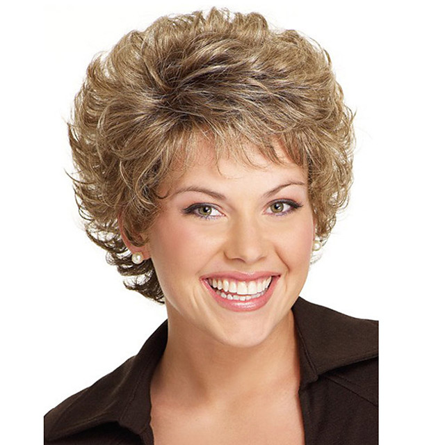 Synthetic Wig Curly Short Bob Wig Short Light Brown Synthetic Hair Women's Party Fashion Comfy Brown