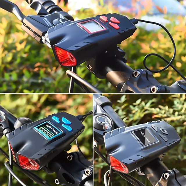 LED Bike Light Front Bike Light Bike Horn Light Speedometer LED Bicycle Cycling Waterproof Smart Induction Super Bright USB Charging Output Lithium Battery 1200 lm Built-in Li-Battery Powered Natural