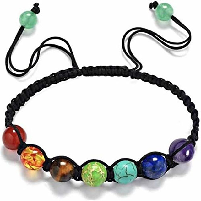 marben top handmade 7 chakra bracelet healing crystal meditation relax anxiety for women's and mens