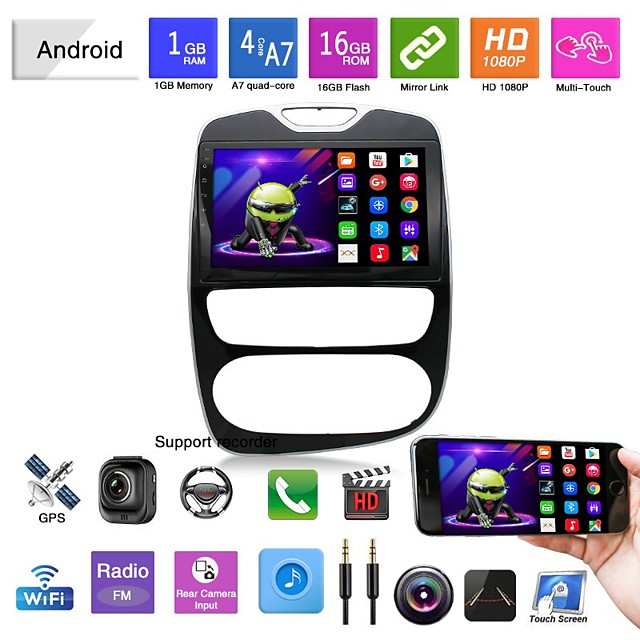 Car DVD 16-18 Renault Clico Automatic Manual Android Navigation Mp5 Player GP Car All-in-one