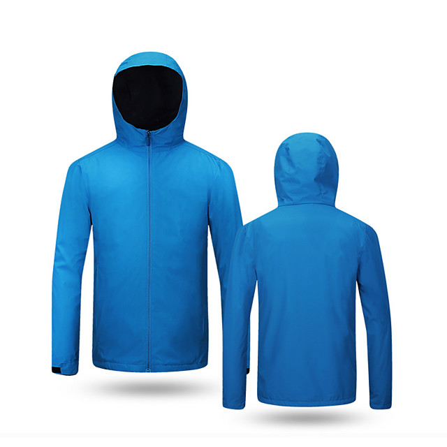 Men's Hiking Softshell Jacket Hiking Jacket Hiking Windbreaker Autumn / Fall Spring Summer Outdoor Solid Color Waterproof Windproof Quick Dry Lightweight Outerwear Jacket Top Full Length Visible
