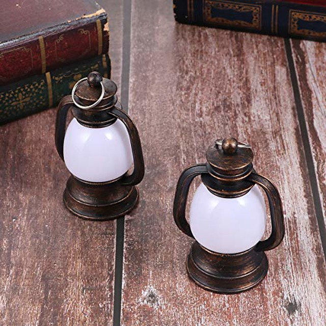2 pieces vintage oil lanterns small kerosene lamp horse lantern camping light emergency light outdoor tent lamp for fishing hiking hunting
