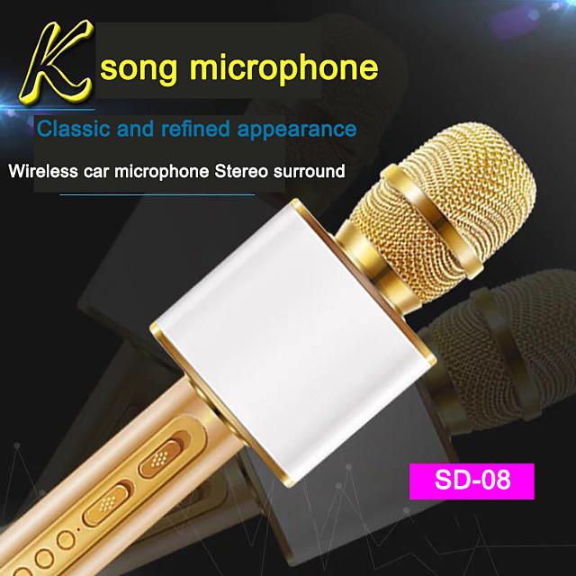 SD-08 Wireless Microphone Bluetooth Handheld Portable Speaker Home KTV Player